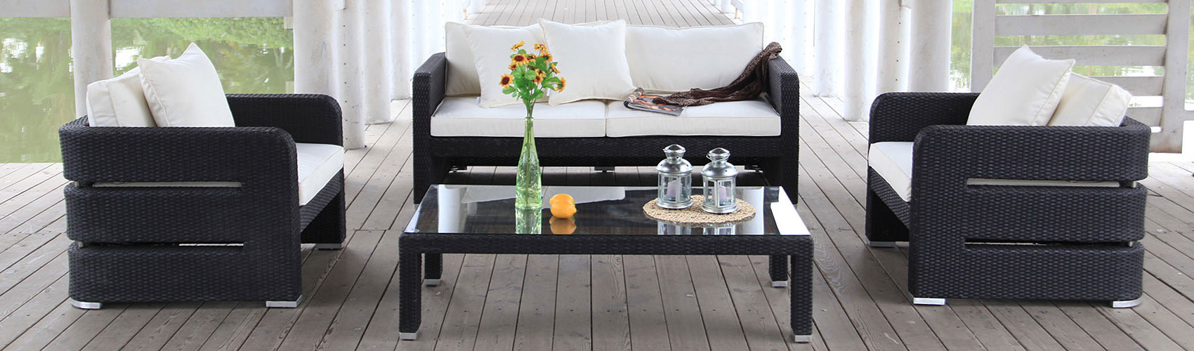 kissen box zur aufbewahrung der sitzkissen ihrer rattan lounge rattan gartenm bel. Black Bedroom Furniture Sets. Home Design Ideas